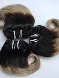 cheap -4 Bundles Brazilian Hair Body Wave Virgin Human Hair Ombre Hair Weaves / Hair Bulk 8 inch Ombre Human Hair Weaves Hot Sale Human Hair Extensions / 10A