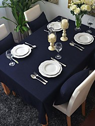 cheap -Square Solid Table Cloth , 100% Cotton Material Table Decoration Hotel Dining Table
