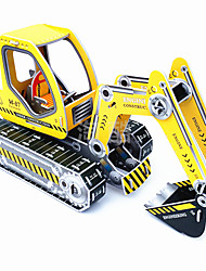 cheap -1 pcs Excavating Machinery Display Model Wooden Puzzle Model Building Kit Wooden Model Paper Kid's Adults' Toy Gift