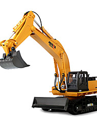cheap -RC Car HUINA 1510 11 Channel 2.4G Excavator / Construction Truck 10 km/h Remote Control / RC / Rechargeable / Electric