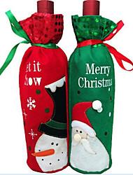 cheap -1PCS Christmas Wine Bottle Wine Bottle Bag