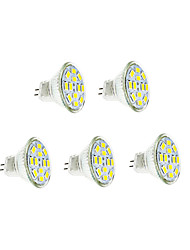 cheap -5pcs 3 W LED Filament Bulbs 250-300 lm GU4 12 LED Beads SMD 5730 Warm White Cold White 12 V / 5 pcs