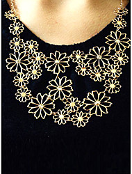 cheap -Women's Statement Necklace Origami Flower Ladies Adjustable Festival / Holiday Alloy Beige Necklace Jewelry For Party Gift Daily Office & Career