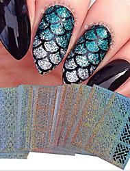 Недорогие -24 pcs Наклейка для фольги Переносной / Геометрический рисунок / Наклейки для ногтей Инструмент для ногтей