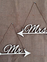cheap -2 piece wedding festival party ideas MR&MRS garland wedding photo props