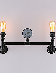 cheap -2 Heads Vintage Industrial Pipe Wall Lights Black Creative Lights Restaurant Cafe Bar Decoration lighting