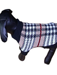 cheap -Dog Sweater Stripes Casual / Daily Winter Dog Clothes Costume Acrylic Fibers