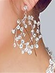 cheap -Women's Crystal Drop Earrings Earrings Jewelry Transparent For Wedding Party