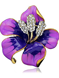 cheap -Women's Brooches Ladies Stylish Brooch Jewelry Black Purple Red For Wedding Party Dailywear Daily Casual