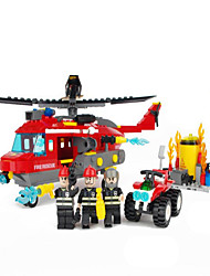cheap -GUDI GUDI9214 Action Figure Building Blocks Construction Set Toys Helicopter compatible Legoing Cool Chic & Modern Cartoon Boys' Girls' Toy Gift / Educational Toy