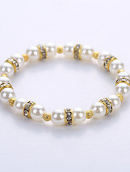 cheap -Men's Women's Bead Bracelet Yoga Bracelet Cheap Pearl Bracelet Jewelry Gold / Silver For Party Birthday Congratulations Gift Casual / Imitation Pearl