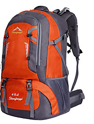 cheap -Hiking Backpack 40 L - Waterproof Breathable Shockproof Outdoor Camping / Hiking Climbing Leisure Sports Nylon Green Orange Red