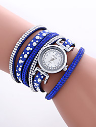 cheap -Women's Bracelet Watch Wrist Watch Quartz Quilted PU Leather Black / White / Blue Cool Colorful Analog Vintage Heart shape Casual Bohemian Bangle - Brown Red Blue One Year Battery Life / KC 377A