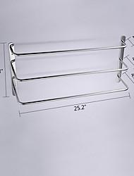 cheap -Towel Bar Contemporary Stainless Steel 1 pc - Hotel bath 3-towel bar
