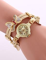 cheap -Women's Bracelet Watch Wrist Watch Diamond Watch Quartz Black / Blue / Silver Cool Colorful Analog Ladies Charm Sparkle Vintage Casual - Silver Red Blue