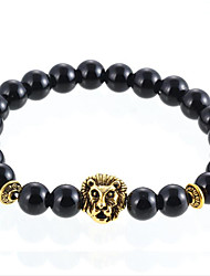 cheap -Men's Women's Agate Bead Bracelet Agate Bracelet Jewelry Silver / Golden For Daily Casual