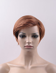 cheap -Synthetic Wig Straight Straight With Bangs Wig Short Brown Synthetic Hair Women's Brown