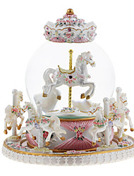 cheap -Music Box Carousel Music Box Classic & Timeless Carriage Unique ABS Women's Boys' Girls' Kid's Adults Graduation Gifts Toy Gift