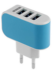 cheap -Home Charger USB Charger US Plug / EU Plug Fast Charge / Multi Ports 3 USB Ports 3.1 A for