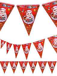cheap -5PCS Christmas Pennant Christmas Mall Store Decoration Design of Santa Claus 8 Face Flag