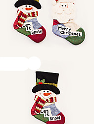 cheap -Socks / Santa Suits / Snowman Christmas Decorations / Christmas Gift Lovely Cartoon / High Quality / Fashion Textile Boys' / Girls' Gift