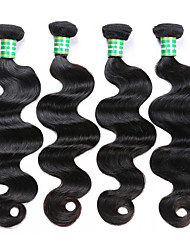 cheap -4 Bundles Brazilian Hair Body Wave Virgin Human Hair Natural Color Hair Weaves / Hair Bulk Human Hair Extensions Human Hair Weaves Human Hair Extensions / 10A