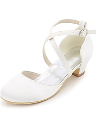 cheap -Girls' Satin Heels Little Kids(4-7ys) White / Purple / Champagne Spring & Summer / Wedding / Party & Evening / Wedding / TR