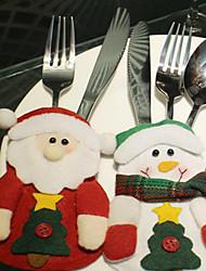 Недорогие -3шт рождественские продукты Санта-Клаус таблица посуда мешок шаблон является случайным