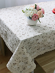 cheap -Rectangular Floral Table Cloth , Linen / Cotton Blend Material Weddings Dinner Decor Home Decoration Hotel Dining Table Wedding Party