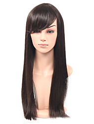 cheap -Synthetic Wig Straight With Bangs Synthetic Hair Black Wig Women's Long