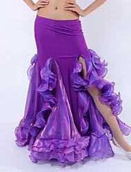 cheap -Belly Dance Tutus & Skirts Women's Performance Polyester / Spandex / Milk Fiber Ruffles Natural Skirt