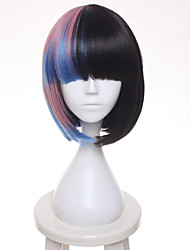 cheap -melanie martinez gradient bobo hair short straight cosplay wig heat resistance fiber Halloween