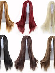 cheap -Synthetic Wig Straight Straight Wig Blonde Auburn Brown Blonde Natural Black Dark Brown Synthetic Hair Women's Red Black Blonde