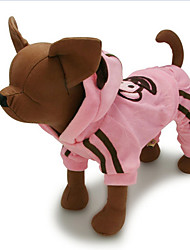 cheap -Dog Jumpsuit Dog Clothes Animal Coffee Pink Terylene Costume For Spring &  Fall Winter Men's Women's Casual / Daily