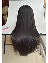 cheap -8 26 silky straight human hair wigs malaysian virgin hair pre plucked wigs straight hair wigs lace front wig