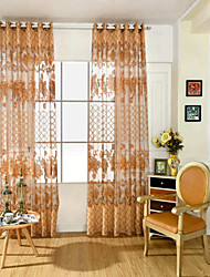 """cheap -Sheer Curtains Shades One Panel 39WX 98""""L Coffee / Living Room"""