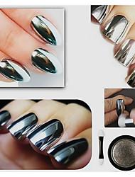 cheap -5g imported mirror magic powder aurora phototherapy electroplating silver flash powder chameleon metal powder