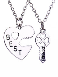 cheap -Men's Women's Pendant Necklace Engraved Heart life Tree Best Friends Friendship Relationship Personalized Love Magnetic Therapy Double Sided Alloy Silver Necklace Jewelry For Wedding Daily Casual