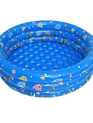 cheap -Kiddie Pool Paddling Pool Inflatable Pool Intex Pool Inflatable Swimming Pool Kids Pool Water Pool for Kids Garden Round Inflatable Pool Fun Plastic PVC(PolyVinyl Chloride) Summer Fish Swimming Kid's