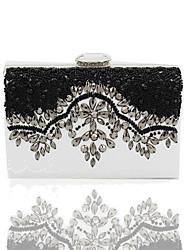 abordables -Femme Billes / Perle / Bijoux acryliques uréthane Poly Pochette Couleur Pleine Noir / Blanc
