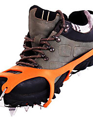 cheap -Traction Cleats / Climbing Shoes / Crampons Anti Slip / 18 Spikes Stainless Steel / Rubber for Hiking / Snowsports