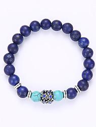 abordables -Bracelet à Perles Bracelet Yoga Perles dames Bracelet Bijoux Bleu pour Soirée Anniversaire Toutes nos félicitations Entreprise Cadeau Quotidien