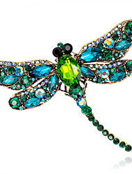 cheap -Women's Brooches Ladies Fashion Color Crystal Brooch Jewelry Brown Butterfly White For Wedding Party Daily Casual