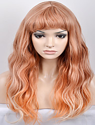 cheap -Synthetic Wig Natural Wave Natural Wave Wig Blonde Long Very Long Yellow Synthetic Hair Women's Blonde
