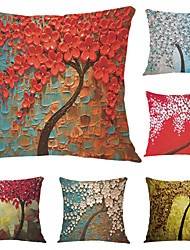 cheap -6 pcs Velvet Pillow Case, Graphic Prints Accent / Decorative