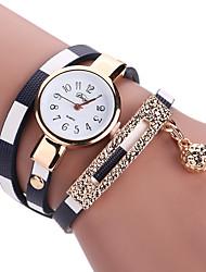 cheap -Women's Bracelet Watch Wrist Watch Wrap Bracelet Watch Quartz Quilted PU Leather Black / Blue / Red Analog Ladies Charm Vintage Casual Bohemian - Red Blue Pink
