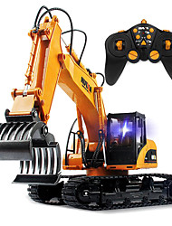 cheap -RC Car HUINA 16 Channel 2.4G Crawler / Excavator / Wood Grabbing Machine 1:12 Rechargeable / Remote Control / RC / Electric