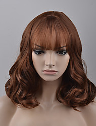 cheap -Synthetic Wig Loose Wave Loose Wave Wig Brown Synthetic Hair Women's Brown