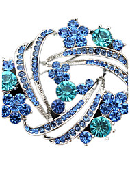 cheap -Women's Crystal Brooches Dainty Imitation Diamond Brooch Jewelry Blue For Wedding Party Daily Casual