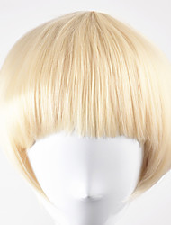 cheap -Synthetic Wig Straight Straight Bob Wig Blonde Short Golden Blonde Synthetic Hair Women's Blonde